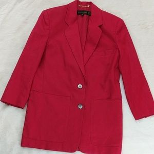 Vintage 🍒 80s long blazer with front pockets
